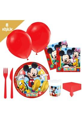 KullanAtMarket Mickey Playful Parti Seti 8 Kişilik - 97 Adet