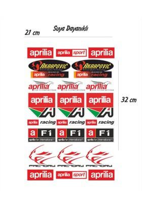 StickerMarket Aprilia Motosiklet Sticker Seti