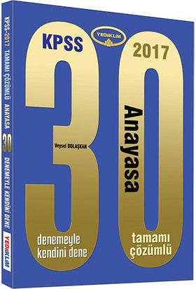 Yediiklim Yayınları Kpss 2017 Anayasa Çözümlü 30 Deneme