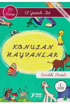 Konuşan Hayvanlar El Yazılı Set 10 Kitap Renkli Heceli 1. Sınıf