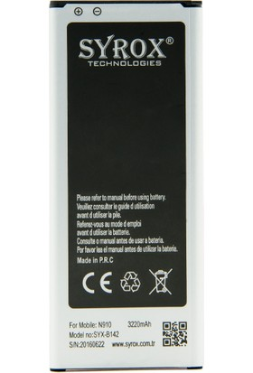 Syrox Samsung N910/Note 4 Batarya