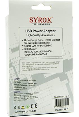 Syrox İphone 5 / 5S Şarj Cihazı Syx-J17