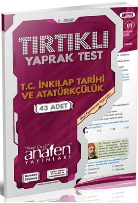 8.Sınıf Türkiye Cumhuriyeti İnkılap Tarihi Ve Atatürkçülük Tırtıklı Yaprak Test