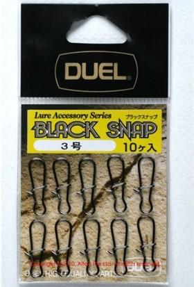 Duel Black Snap Maket Balık Klipsi No:2 10 Adet