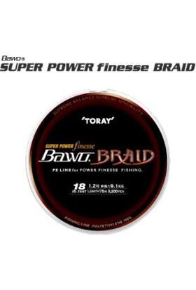 Toray Super Power Finesse 8 Braids Örgü Misina 0,128 Mm
