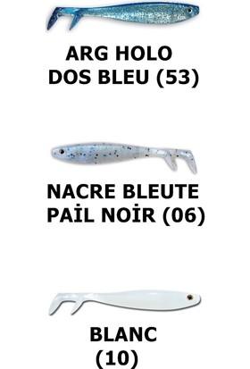 Delalande Fury Shad 11 Cm Silikon Yem Arg Holo Dos Bleu (53)