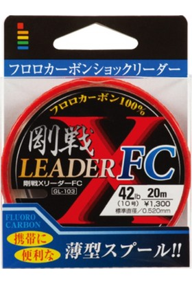 Gosen X-Leader Fc Fluorocarbon Leader #6 / 24 Lbs 30 Mt