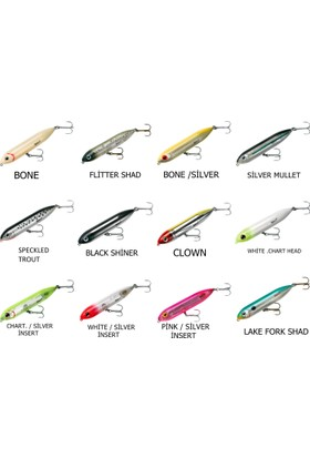 Heddon Super Spook Jr. Su Üstü Suni Yem Clown
