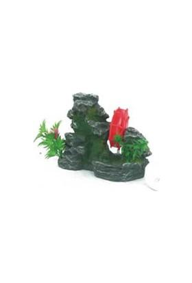 Xiongfa Akvaryum Dekoru Bitkili Değirmen 17X8X13