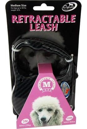 Retractable Leash Siyah 3M Tasma