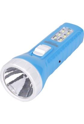 Maxima 0,5W + 6 SMD LED Şarj Edilebilir El Feneri (Mavi)
