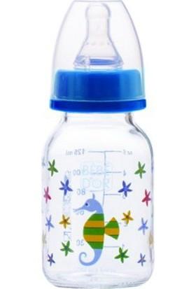 Bebedor %0 BPA Desenli Cam Biberon 125 ml Mavi