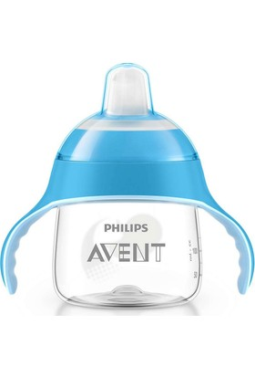 Philips Avent SCF751/05 Penguen Damlatmaz Alıştırma Bardağı 6m 200ml Mavi