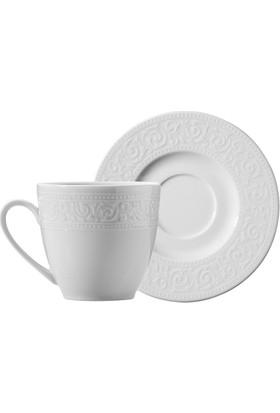Kütahya Porselen Açelya 12 Parça 6 Kişilik Kahve Fincan Takımı
