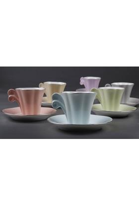Arte Bianco Kütahya Porselen Kavuk Kahve Takımı
