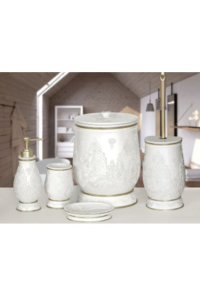 NEW MATİLDA 5 Prç Banyo Seti Krem Banyo Seti 5 parça