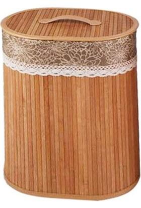 İthal Katlanır Bambu Kirli Sepeti