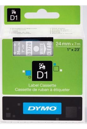 Dymo D1 Yedek Şerit 24mmx7mt Şeffaf/Beyaz (53720) S0721000