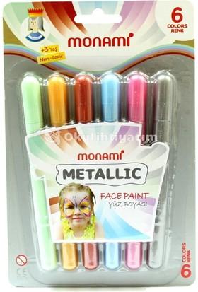 Monami Yüz Boyası 6 Renk Metalik