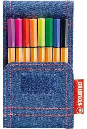 Stabilo Point 88 Mini Jeans 8'li Set Keçe Uçlu Kalem