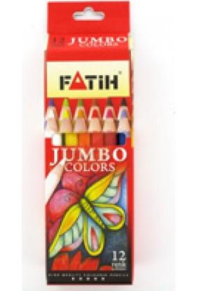 Fatih Jumbo Boya Kalemi 12 Renk Yarım Boy