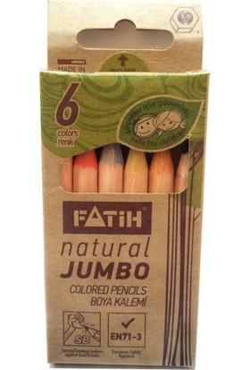 Fatih Natural Jumbo Boya Kalemi 6 Renk Yarım Boy