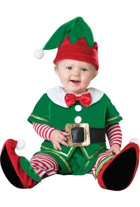 Hkostüm Yılbaşı Bebek Elf Kostümü Lüks 6-12 Ay