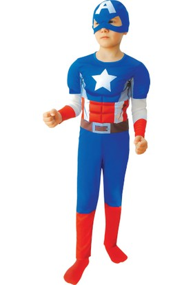 Marvel Heroes Kaptan (Captaın) Amerika Kostümü