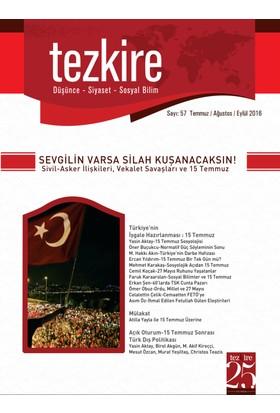 Tezkire Dergisi Sayı: 57 (Düşünce-Siyaset-Sosyal Bilim)