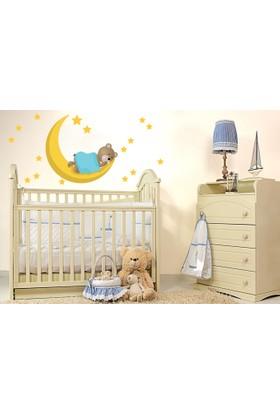 Uyusunda Büyüsün Şirin Ayıcık Duvar Sticker 116 x 120 cm