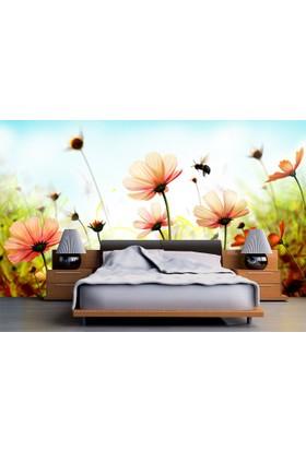 Flowers 003 Duvar Sticker 145x145cm