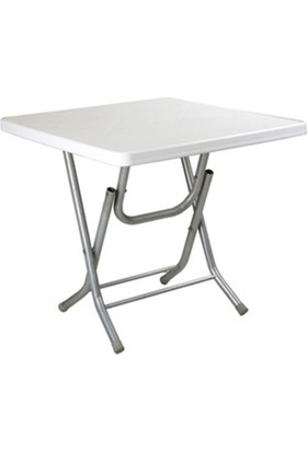 Plastıco 80X80 Katlanır Metal Ayaklı Plastık Masa