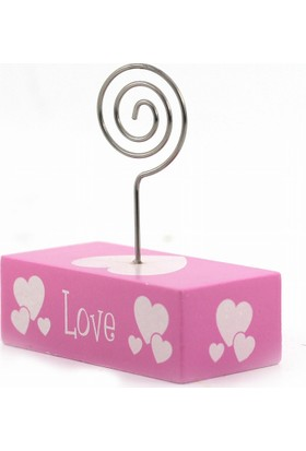 Decotown Love Motifli Pembe Love Kartvizit Tutacak
