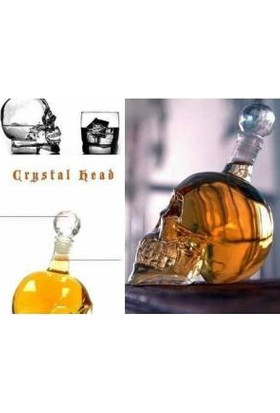 Original Boutique Crystal Head Kuru Kafa Cam Şişe 1000 Ml