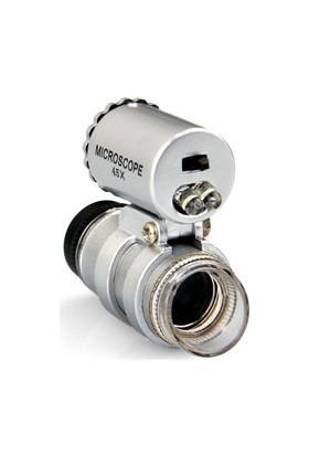 Pratik Mini Ledli 45X Parmak Mikroskop