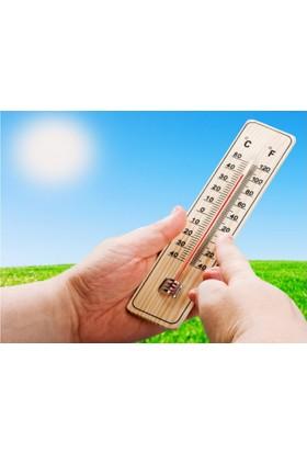 Pratik Ahşap Oda Termometresi