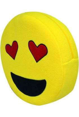 Pratik Gözleri Aşk Emoji Yastık - O87