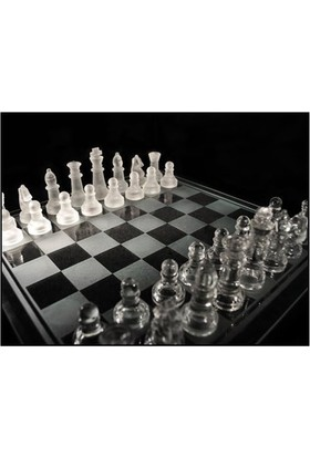 Original Boutique Glass Chess Cam Satranç Takımı (19.5 X 19.5 Cm)