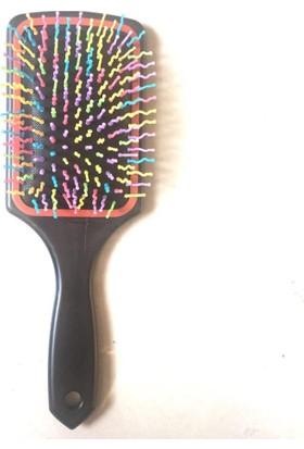 Pratik Saç Açıcı Gökkuşağı Saç Fırçası