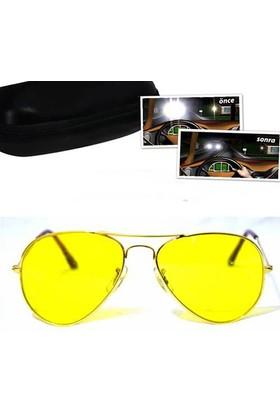 Pratik Anti Far Gece Görüş Gözlüğü Rayban Modeli
