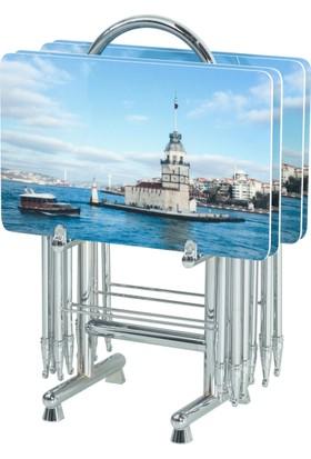 Dijital Baskılı Çanta Zigon Sehpa Kız Kulesi