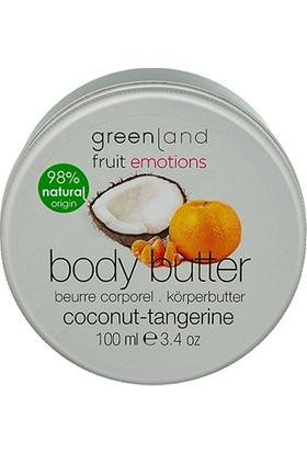 Greenland Vücut Bakımı Parabensiz Vücut Yağı Body Butter Hindistan Cevizi - Mandalina