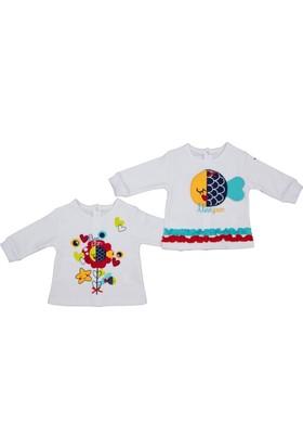 Bebepan 1748 Mrs. Fish 2'li Kız Bebek Sweatshirt