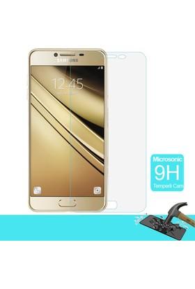 Microsonic Samsung Galaxy C7 Temperli Cam Ekran koruyucu film