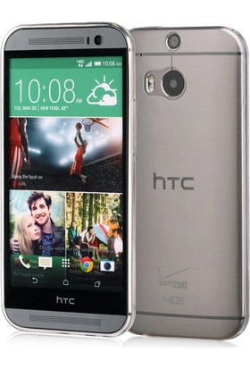 CaseUp HTC One M8s Clear Soft Şeffaf kılıf Cam