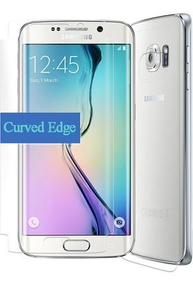 CaseUp Samsung Galaxy S6 Edge Ön + Arka Tam Ekran Kaplayıcı Film Kavisler Dahil Cam