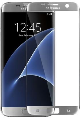 CaseUp Samsung Galaxy S7 Edge CaseUp Kavisli Ekran Koruyucu Gümüş