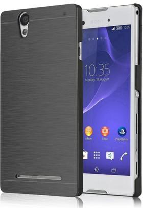 CaseUp Sony Xperia T2 Ultra Kılıf Hybrid Metal Cam