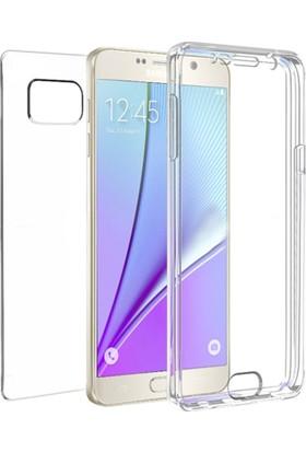 Eiroo Protection Samsung Note 5 360 Derece Koruma Şeffaf Silikon Kılıf