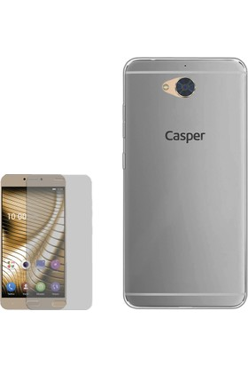 Gpack Casper Via A1 Kılıf 0.2Mm Silikon + Cam